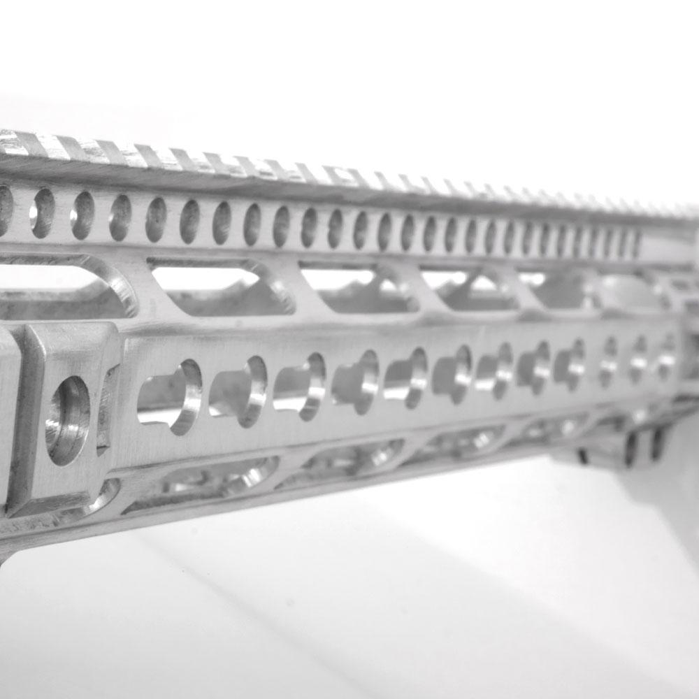 Closeup of RW Arms AR-15 keymod handguard pro