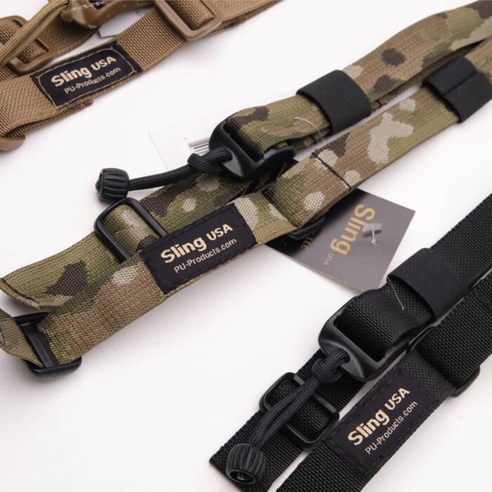 Closeup of Sling Tactical slings in various colors