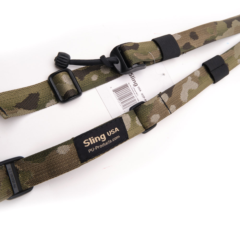 Closeup of Sling Tactical sling in camo