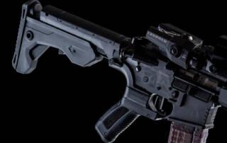 close up photo of ar-15 rifle